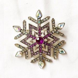 Snowflake Brooch Lapel Pin